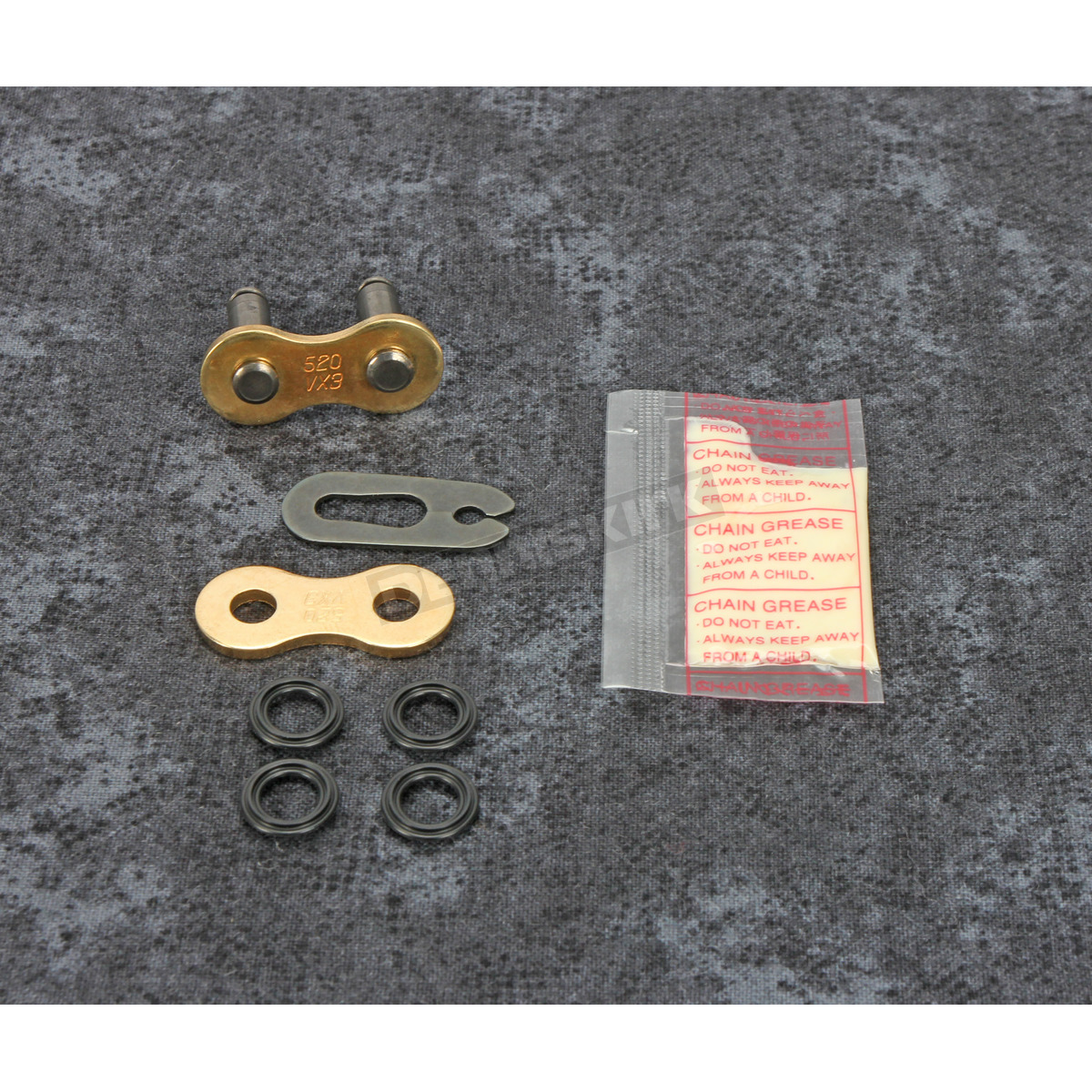 DID 520VX2GB FJ C//L Gold Clip-Style X-Ring Chain Connecting Link