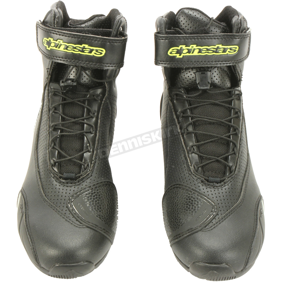 42 EU, Black Silver Yellow SP-1 v2 Vented Motorcycle Street Road Riding Shoe
