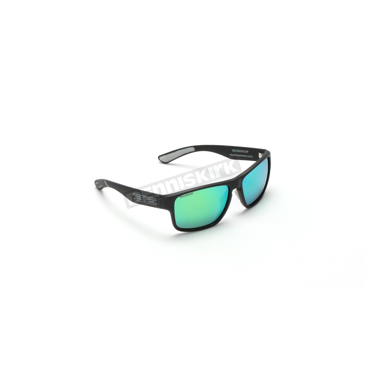 5c92d001e03 Epoch Eyewear Matte Black Charlie Sunglasses w Green Mirror Polarized Lens  - EE5943