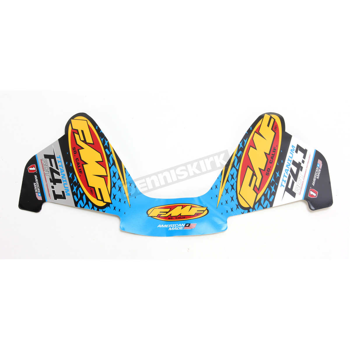 FMF Factory 4.1 Exhaust Replacement Sticker Decals Aluminum RCT Wrap 014820