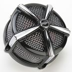 Black/Chrome Hi-Five Mach 2 Air Cleaner Only - 9514