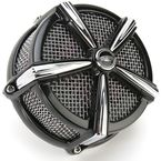 Black/Chrome Hi-Five Mach 2 Air Cleaner Kit - 9536