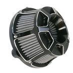 Black Bevelled Inverted Series Air Cleaner Kit - 18-937
