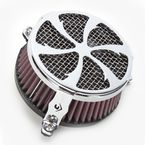 Chrome Swept Air Cleaner - 06-011401