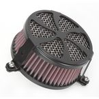 Black Swept Air Cleaner - 06-0114-01B