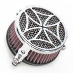 Chrome Cross Air Cleaner - 06-0114-02