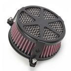 Black Spoke Air Cleaner - 06-0114-04B