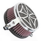 Chrome Cross Air Cleaner - 06-0119-02