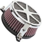 Chrome Spoke Air Cleaner - 06-0119-04