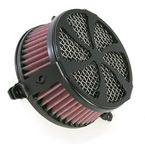 Black Swept Air Cleaner - 06-0133-01B