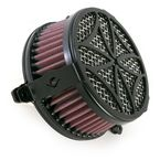 Black Cross Air Cleaner - 06-0133-02B