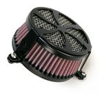Black Swept Air Cleaner - 06-013701B