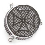 Chrome Cross Air Cleaner - 06-013702
