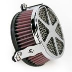 Chrome Spoke Air Cleaner - 06-0137-04