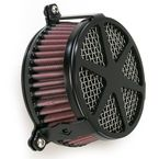 Black Spoke Air Cleaner - 06-013704B