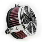 Chrome Swept Air Cleaner - 06-022501