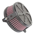 Black Swept Air Cleaner - 06-0225-01B