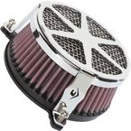 Chrome Spoke Air Cleaner - 06-0225-04