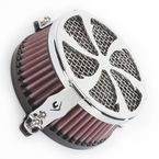Chrome Swept Air Cleaner - 06-024501