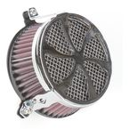 Chrome Swept Air Cleaner - 06-0270-01