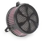 Black Swept Air Cleaner - 06-0270-01B