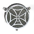 Chrome Cross Air Cleaner - 06-0270-02