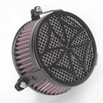 Black Cross Air Cleaner - 06-0270-02B