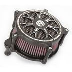 Contrast Cut Venturi Delmar Air Cleaner - 0206-2094-SMBM