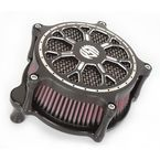 Contrast Cut Venturi Delmar Air Cleaner - 0206-2096-SMBM