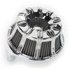 Chrome Inverted Series 10-Gauge Air Cleaner Kit  - 18-942