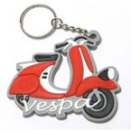 Red Vespa Rubber Fenderlight Key Chain - KC-FENDER-RD