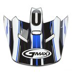 Black/Blue/White Visor for GM46.2 Traxxion Medium to XXX-Large Helmet - 72-1188