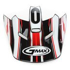 Black/Red/White Visor for Youth GM46.2 Traxxion Helmet - 72-1201