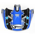 Black/Blue Visor for Youth GM46.2 Superstar Helmet - 72-3681