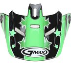 Black/Green Visor for Youth GM46.2 Superstar Helmet - 72-3682