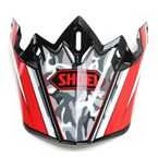 Red/Black/White Visor for VFX-W  Turmoil TC-1 Helmets - 0245-6089-01