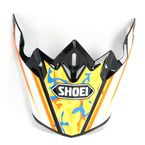 Black/White/Orange/Yellow Visor for VFX-W Turmoil TC-8 Helmets - 0245-6089-08