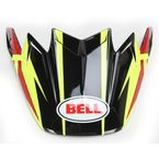 Yellow/Red/Black Strapped Carbon Flex Visor  - 7071246