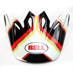 Black/White/Red/Hi-Vis Pace Visor for the Moto-9 Helmet - 7071334