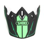 Matte Black/Green Visor for  VFX-W Hectic Helmet - 0245-6092-04