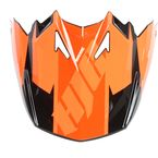 Orange/Red Visor for CL-X7 Bator MC-7 Helmets - 757-979
