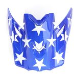Blue/White Patriot Visor for F3 Helmets - 3866-000-000-009