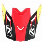 Red/Black Ripper Visor for F3 Helmets - 3866-000-000-010