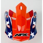 Rebel Orange Visor for AFX Helmet - 0132-0525