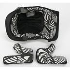 Black/White 8 Series Helmet Liner - 0521