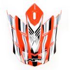Safety Orange Multi Visor for AFX Helmet - 0132-0672