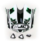 Black/White/Green Visor for HJC CL-X6 Hydron Helmet - 728-949