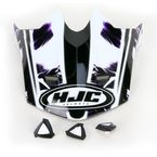 Black/White/Purple Visor for HJC CL-X6 Hydron Helmet - 728-999