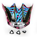 Magenta/Cyan/Yellow Visor for HJC CL-X6 Fuze Helmet - 730-939