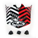 Red/Black/White Visor for HJC CL-XY Wanted Youth Helmet - 274-919